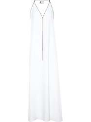 Lanvin Chain Embellished Crepe Dress