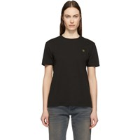 6397 Black Embroidered Leaf Boy T Shirt
