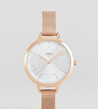 Limit Sunray Mesh Watch In Rose Gold Exclusive To Asos Rose Gold