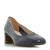 Linea Alston Low Block Court Shoes Navy