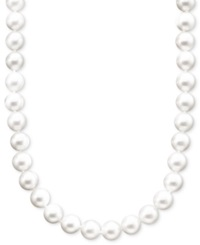 Belle De Mer Pearl Necklace 18' 14K Gold A Akoya Cultured Pearl Strand 8 8 1 2Mm Black