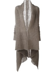 Rick Owens Shawl Collar Cardigan Nude And Neutrals