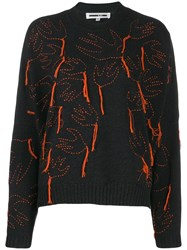 Mcq By Alexander Mcqueen Aviary Knitted Jumper Black