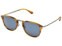 Persol 0Po3165s Striped Brown Light Blue Fashion Sunglasses