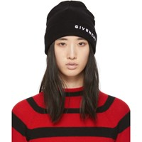 Givenchy Black Embroidered Logo Beanie