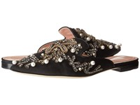 Alberta Ferretti Embroidered And Embellished Slip On Black Women's Slip On Dress Shoes