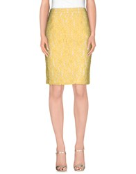 Havren Skirts Knee Length Skirts Women Yellow
