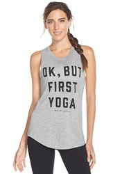 Women's Spiritual Gangster 'Ok But First Yoga' Tank