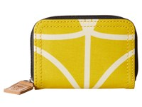 Orla Kiely Giant Linear Stem Small Medium Zip Wallet Dandelion Wallet Handbags Yellow