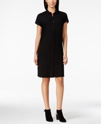 Eileen Fisher Short Sleeve Collared Shirt Dress