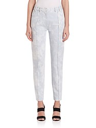 Thakoon Tie Dye Skinny Pants Light Blue