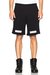 Off White Blue Collar Shorts In Black