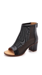 Maison Martin Margiela Mesh Open Toe Booties Black