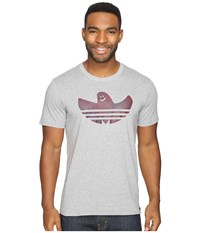 Adidas Shmoo Crystal Tee Core Heather Maroon Men's T Shirt White