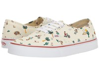 Vans Authentic Party Train The Desert White Skate Shoes Beige