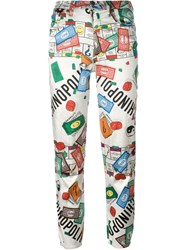 Moschino Vintage 'Monopoly' Print Trousers Multicolour