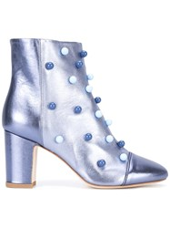 Polly Plume Saint Barth Boots Women Calf Leather Leather 39 Blue