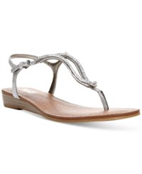 Carlos By Carlos Santana Tindra Sandals Women's Shoes Silver