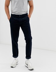 Esprit Cord Trouser In Loose Fit In Navy