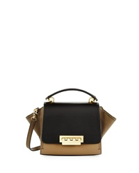 Zac Zac Posen Eartha Colorblock Leather Mini Crossbody Bag Desert Oli