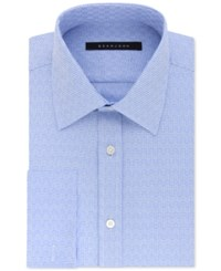 Sean John Men's Classic Regular Fit Textured Solid French Cuff Dress Shirt Soft Blue