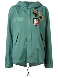 Mr And Mrs Italy Multi Patch Parka Green
