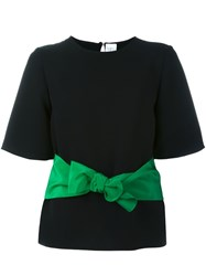 Victoria Beckham Bow Belt T Shirt Black