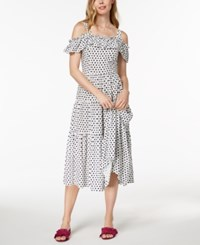 Maison Jules Cold Shoulder Midi Dress Created For Macy's Cloud Combo