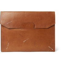 Maison Martin Margiela Vintage Effect Leather Portfolio Brown