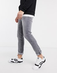 New Look Slim Fit Jeans In Light Grey Wash