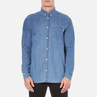 Carhartt Men's Long Sleeve Civil Shirt Stone Wash Blue