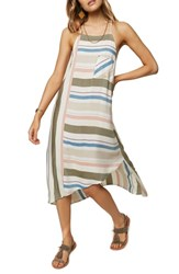 O'neill Sorbet Stripe Midi Dress Multi Colored