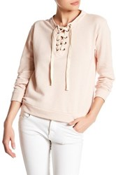 Harlowe And Graham Lace Up Sweater Pink