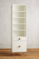 Anthropologie Lacquered Regency Bath Cabinet Large White
