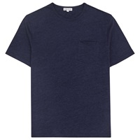 Reiss Habit Flecked Crew Neck T Shirt Navy