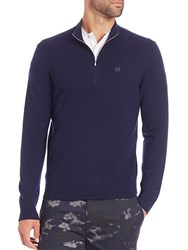 Ag Green Label Baker Zip Front Sweater Navy