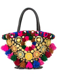 Figue Pom Pom Tassel Tote Bag Multicolour