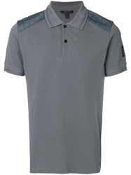 Belstaff Hitchin Cotton Pique Polo Shirt Grey