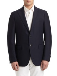 Salvatore Ferragamo Two Button Sportcoat Navy