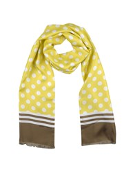 Andrea Pompilio Oblong Scarves Yellow