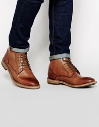 Frank Wright Acton Leather Boots Tan
