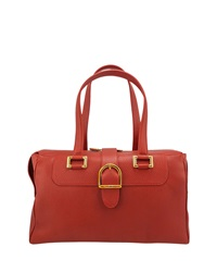 Chopard Praga Day Classica Grained Leather Handbag Red