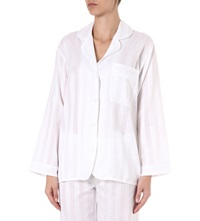 Bodas Cotton Pyjama Shirt White