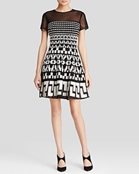 Dkny Embroidered Illusion Dress