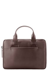 Troubadour Men's Leather Briefcase Brown Brown Leather