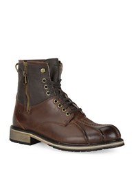 Andrew Marc New York Rutland Two Tone Leather Boots Hazle