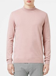 Topman Pink Mini Roll Neck Jumper