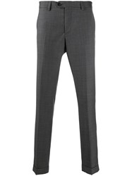Fay Slim Tailored Trousers Grey