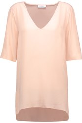 Equipment Otis Washed Silk Top Peach
