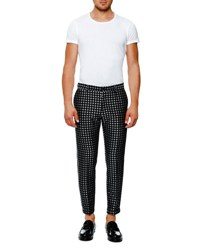Dolce And Gabbana Dot Jacquard Trousers Black